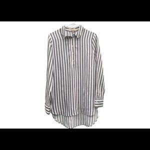 Philosophy striped down shirt.